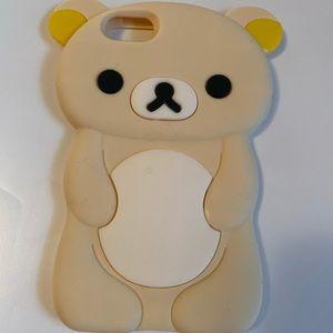 iPhone 6 Cream Rilakkuma silicone phone case